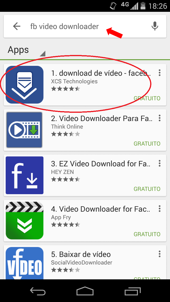 download de video do facebook android
