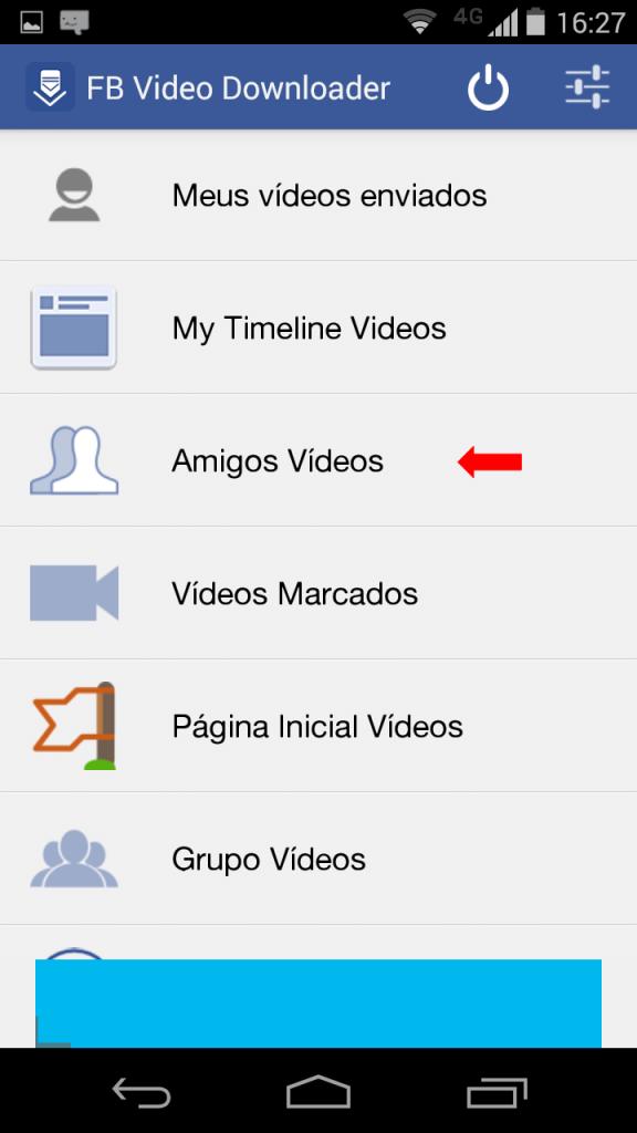 imagem do aplicativo para baixar vídeos do facebook