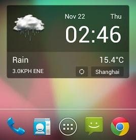 imagem de widget android