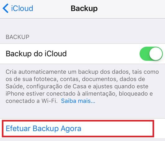 icone menu backup iphone